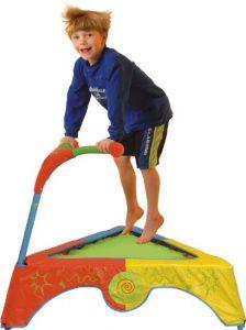 Kid Active Mini Trampoline With Bar