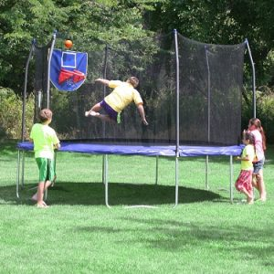 Skywalker trampoline basketball hoop