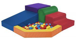 ECR4Kids Softzone Primary Corner Foam Climber Ball Pit for Kids