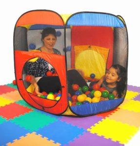 Hexagon Twist Play Tent Generation II w/ Indoor Ball Stopper