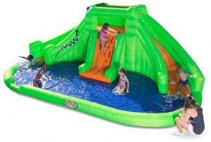 Blast Zone Crocodile Isle Best Inflatable Water Parks with Dual Slides