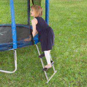 Trampoline ladder for trampoline safety