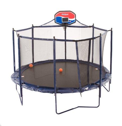 jumpsport trampoline basketball hoop