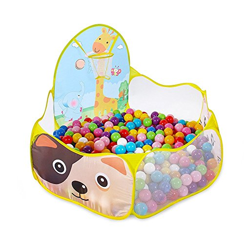 Total dimensions are 39.4u201d x 19.7u201dx 14.6u2033. We recommend ordering at least 200 of the 2.5u2033 diameter ball pit balls to fill this toy. Read More?  sc 1 st  Tr&oline Reviews & Ball Pit for Kids | Inflatable Ball Pits u0026 Accessories [2018 Reviews]