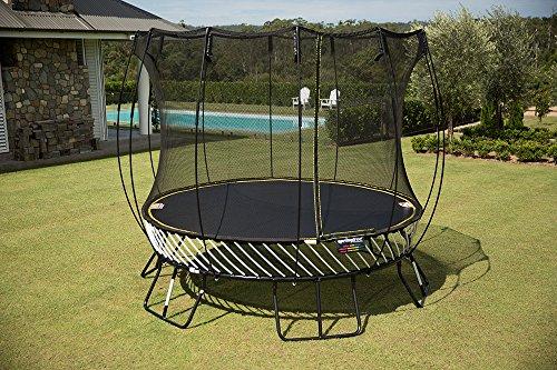 trampoline medium with basketball hoop