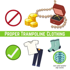 Trampoline safety tips clothes