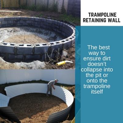 trampoline retaining wall In Ground Trampoline