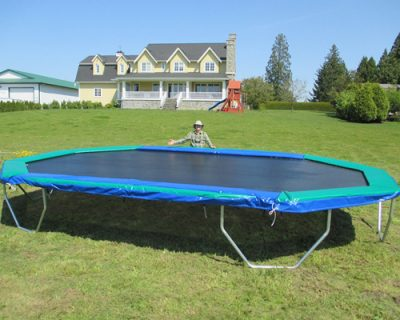 Large outdoor trampolines